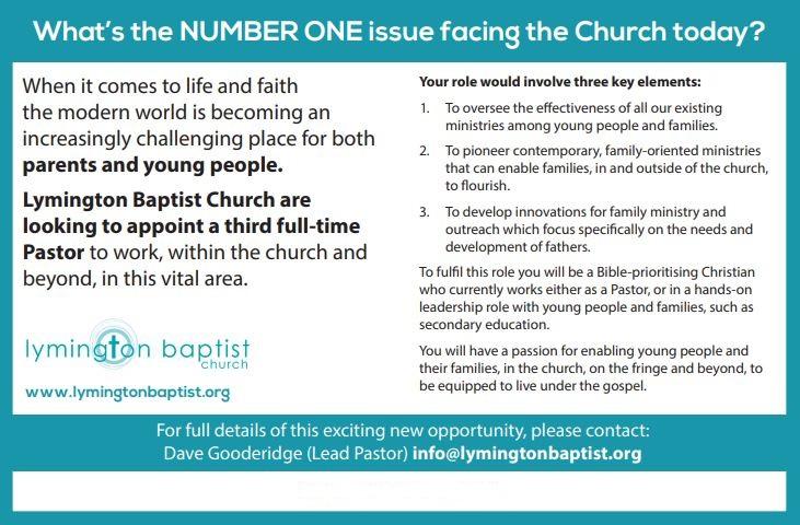 2019.8.16 Lymington baptist ad
